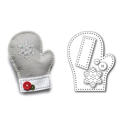 Memory Box PLUSH FROSTY MITTEN Craft Die 99308 Preview Image