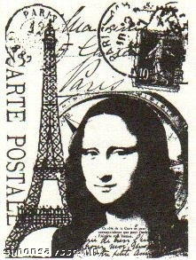 Tim Holtz Cling Rubber ATC Stamp PARIS 015 Stampers Anonymous COM015