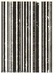Tim Holtz Cling Rubber ATC Stamp STRIPES Stampers Anonymous COM011