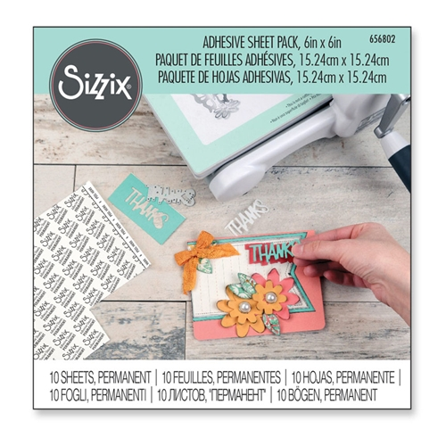 Sizzix ADHESIVE 6x6 SHEET Pack 656802 Preview Image