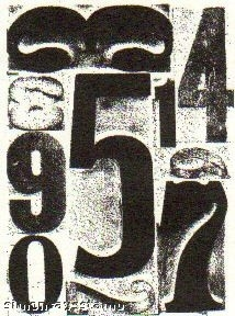 Tim Holtz Cling Rubber ATC Stamp NUMBER COM006 *