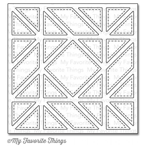 My Favorite Things DIAGONAL QUILT SQUARE COVER UP Die-Namics MFT799 Preview Image