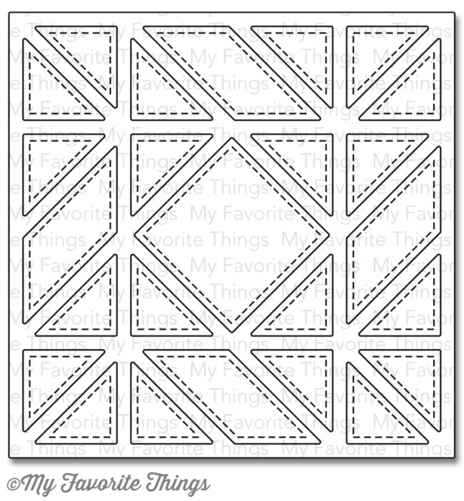 My Favorite Things DIAGONAL QUILT SQUARE COVER UP Die-Namics MFT799 zoom image