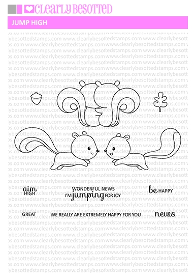 Clearly Besotted JUMP HIGH Clear Stamp Set  zoom image