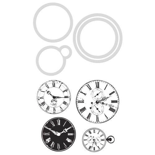 Kaisercraft VINTAGE CLOCKS Die And Stamp set DD904 Preview Image