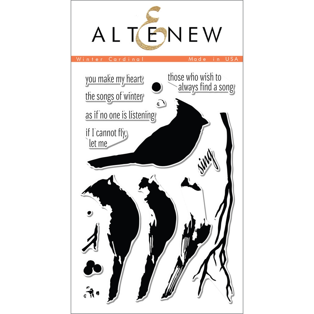 Altenew WINTER CARDINAL Clear Stamp Set ALT1053 zoom image