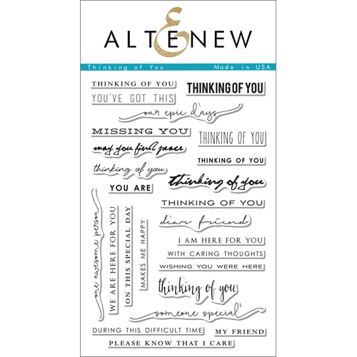 Altenew THINKING OF YOU Clear Stamp Set ALT1096 Preview Image