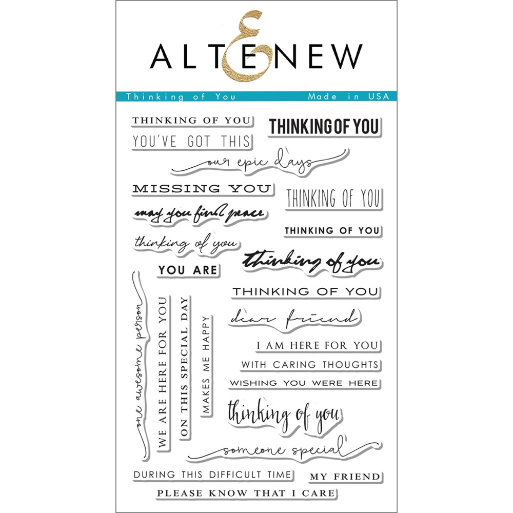 Altenew THINKING OF YOU Clear Stamp Set ALT1096 zoom image