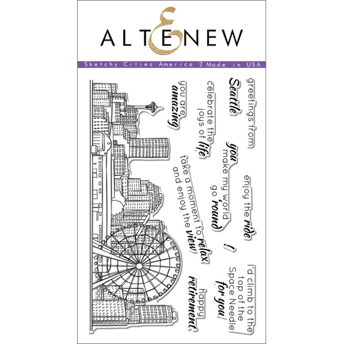 Altenew SKETCHY CITIES AMERICA 2 Clear Stamp Set ALT1110 Preview Image