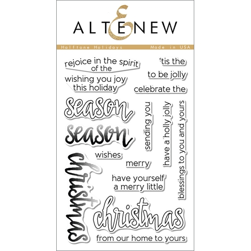 Altenew HALFTONE HOLIDAYS Clear Stamp Set ALT1064* Preview Image