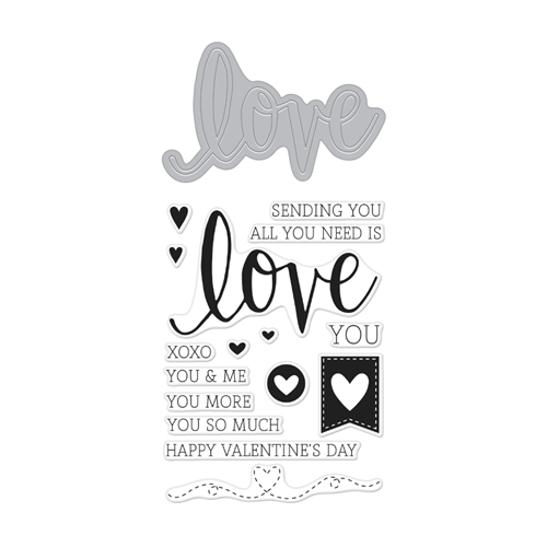 Hero Arts Stamp & Cuts LOVE Coordinating Stamp And Die Set DC175 Preview Image