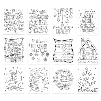 Simon Says Stamp Suzy's HOLIDAY DOODLES Watercolor Prints SWD12