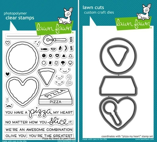 Lawn Fawn SET LF15SETPIZZA PIZZA MY HEART Clear Stamps and Dies zoom image