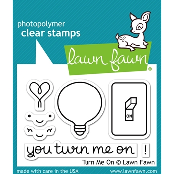 Lawn Fawn TURN ME ON Clear Stamps LF1020