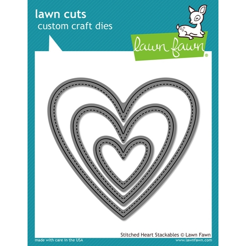Lawn Fawn STITCHED HEART STACKABLES Lawn Cuts LF1025 Preview Image