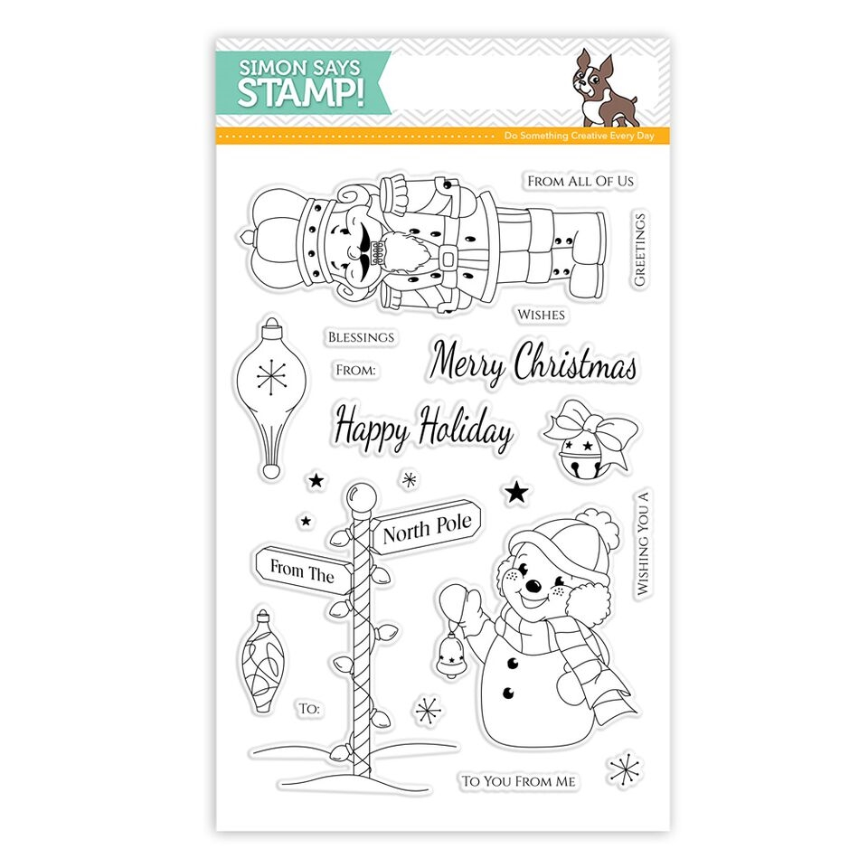 Simon Says Clear Stamps RETRO CHRISTMAS SSS101591 * zoom image