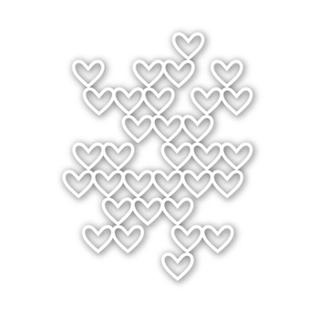 Simon Says Stamp STACKED HEARTS Wafer Die SSSD111540