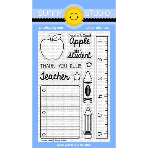 Sunny Studio SCHOOL TIME Clear Stamp Set  SSCL-113 Preview Image