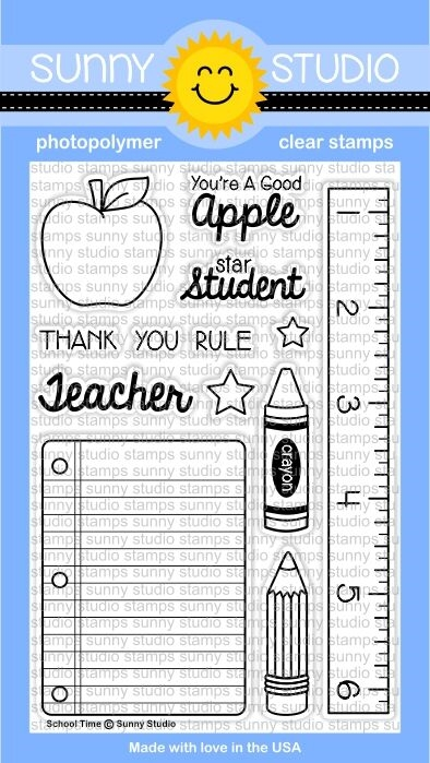 Sunny Studio SCHOOL TIME Clear Stamp Set  SSCL-113 zoom image