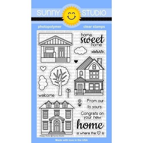 Sunny Studio HAPPY HOME Clear Stamp Set SSCL-114 Preview Image