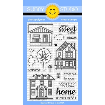 Sunny Studio HAPPY HOME Clear Stamp Set SSCL-114