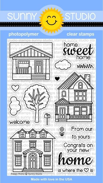 Sunny Studio HAPPY HOME Clear Stamp Set SSCL-114 zoom image