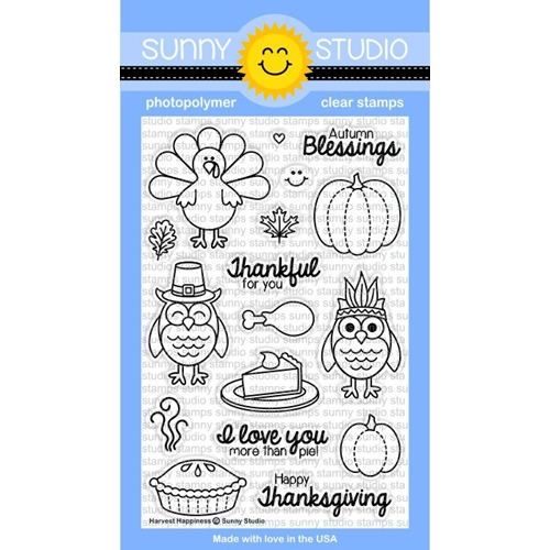 Sunny Studio HARVEST HAPPINESS Clear Stamp Set SSSCL-116* Preview Image