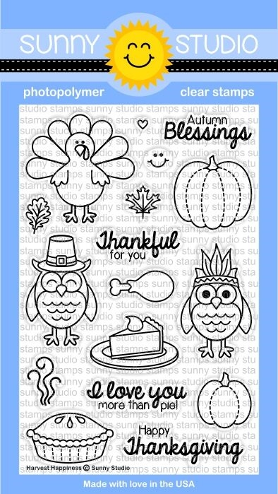 Sunny Studio HARVEST HAPPINESS Clear Stamp Set SSSCL-116* zoom image