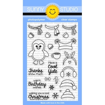 Sunny Studio BUNDLED UP Clear Stamp Set SSCL-117