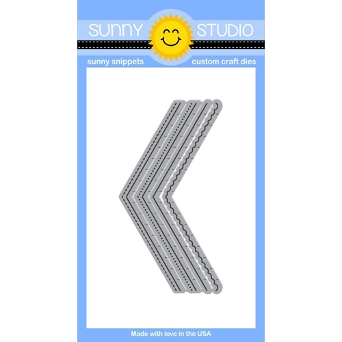 Sunny Studio FISHTAIL BANNERS Snippets Die SunnySS-003 Preview Image
