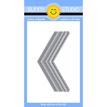 Sunny Studio FISHTAIL BANNERS Snippets Die SunnySS-003