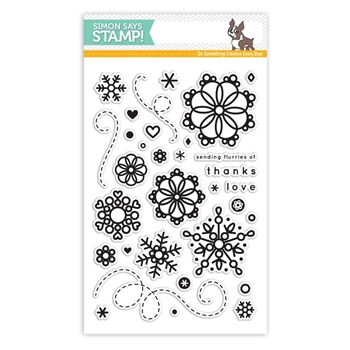 Simon Says Clear Stamps CUTE SNOWFLAKES SSS101602 *