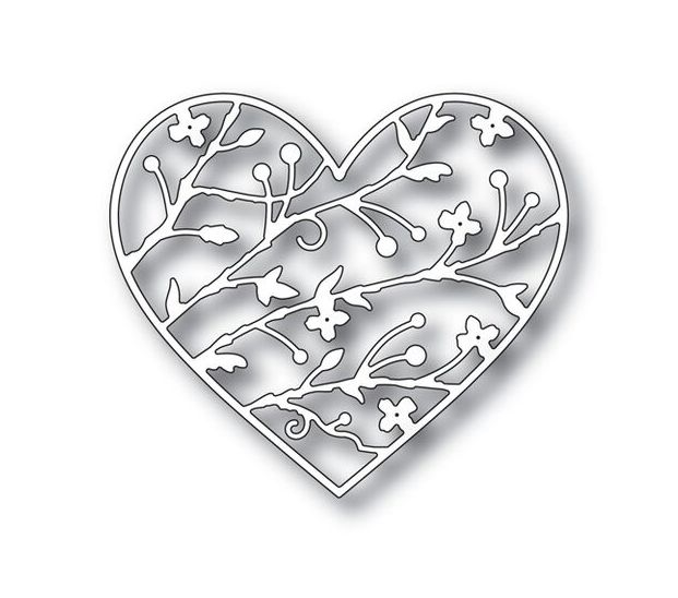 Simon Says Stamp BRAMBLE HEART Wafer Dies s338 You Have My Heart zoom image