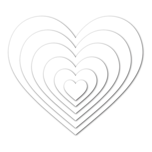 Simon Says Stamp NESTED HEARTS Wafer Dies sssd111555 You Have My Heart Preview Image