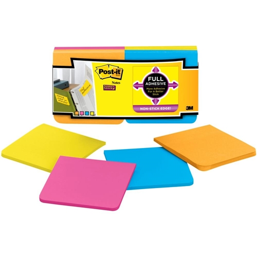 3M Scotch SUPER STICKY FULL ADHESIVE Post It Notes 0388 Preview Image