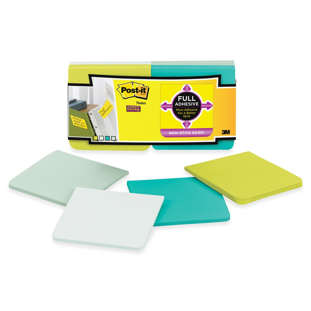 3M Scotch SUPER STICKY FULL ADHESIVE Post It Notes 35625 zoom image