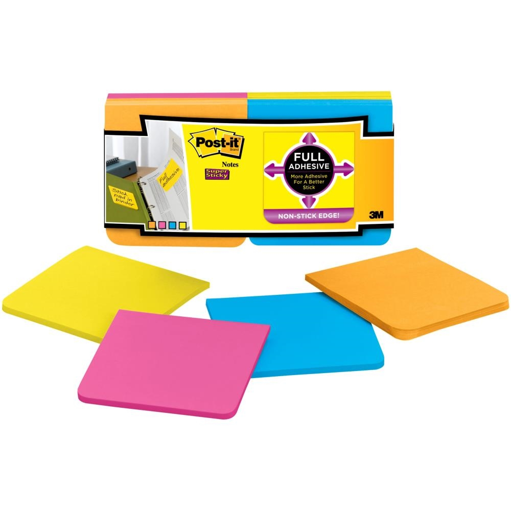 3M Scotch SUPER STICKY FULL ADHESIVE Post It Notes 0388 zoom image