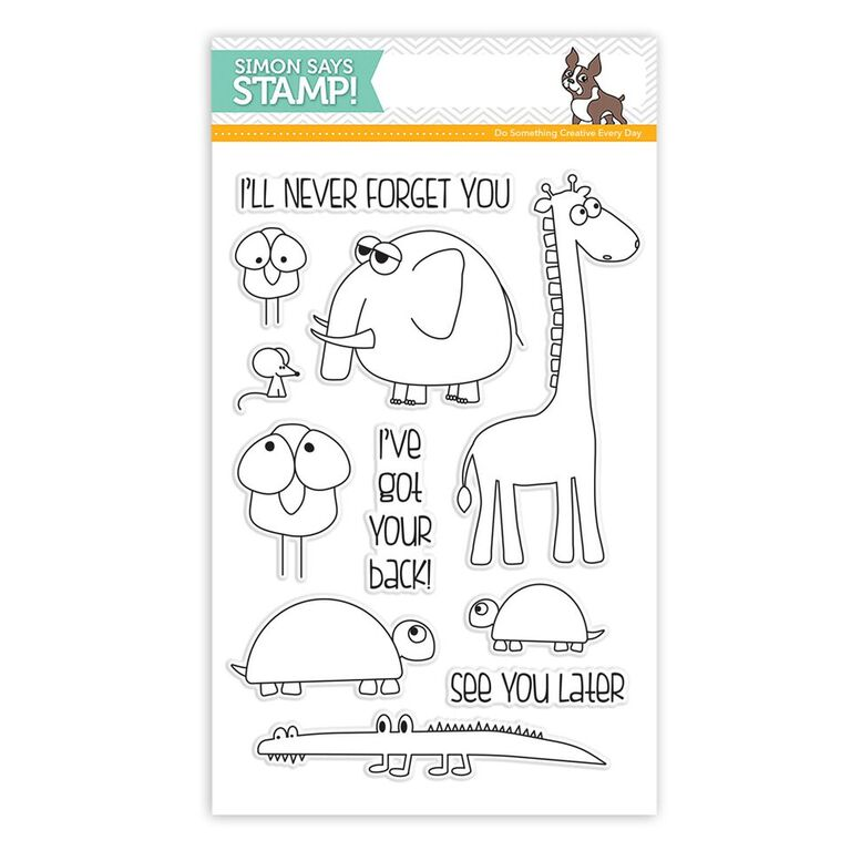 Simon Says Clear Stamps STACKING ANIMALS sss101584