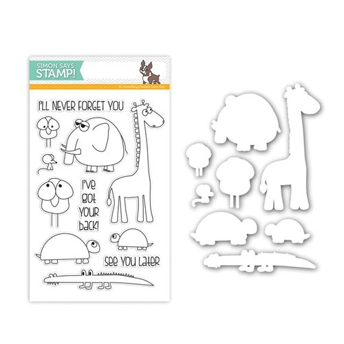 Simon Says Stamps and Dies STACKING ANIMALS SetSA243 You Have My Heart Preview Image