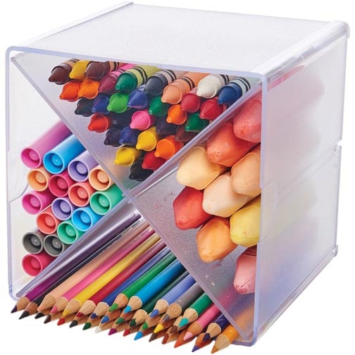 Deflecto STACKABLE X DIVIDED STORAGE ORGANIZER 350201CR zoom image
