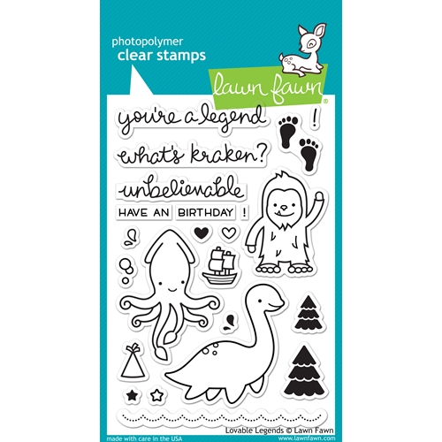 Lawn Fawn LOVABLE LEGENDS Clear Stamps LF1038 Preview Image