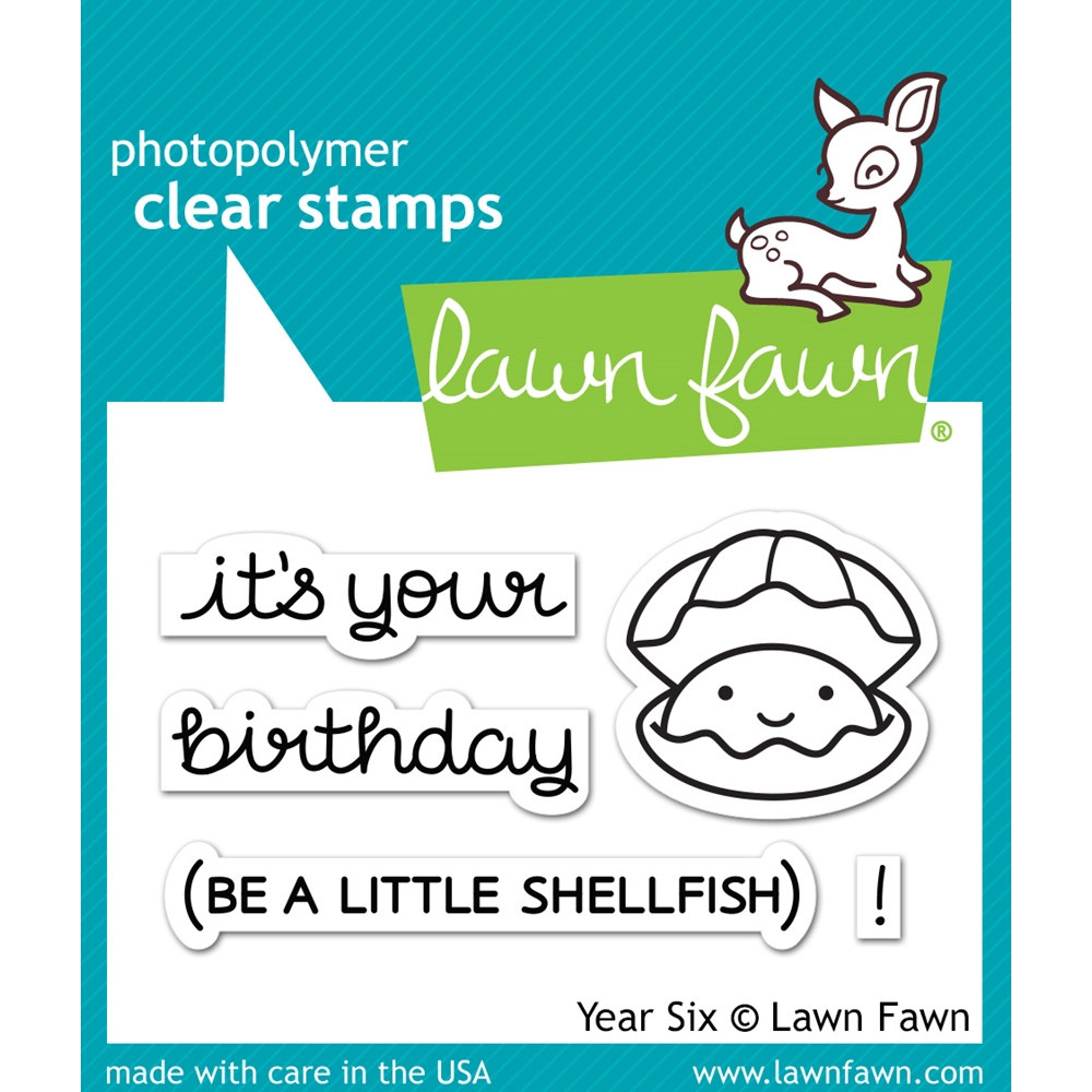 Lawn Fawn YEAR SIX Clear Stamps LF1050 zoom image