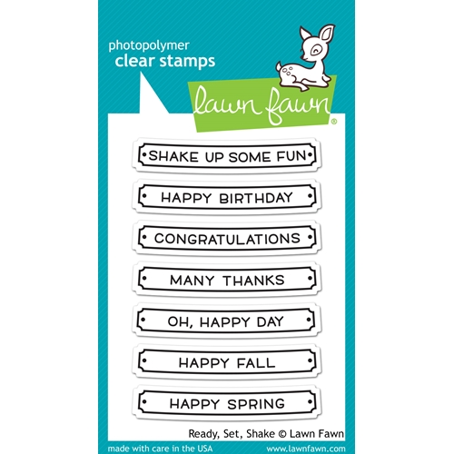 Lawn Fawn READY SET SHAKE Clear Stamps LF1060 Preview Image