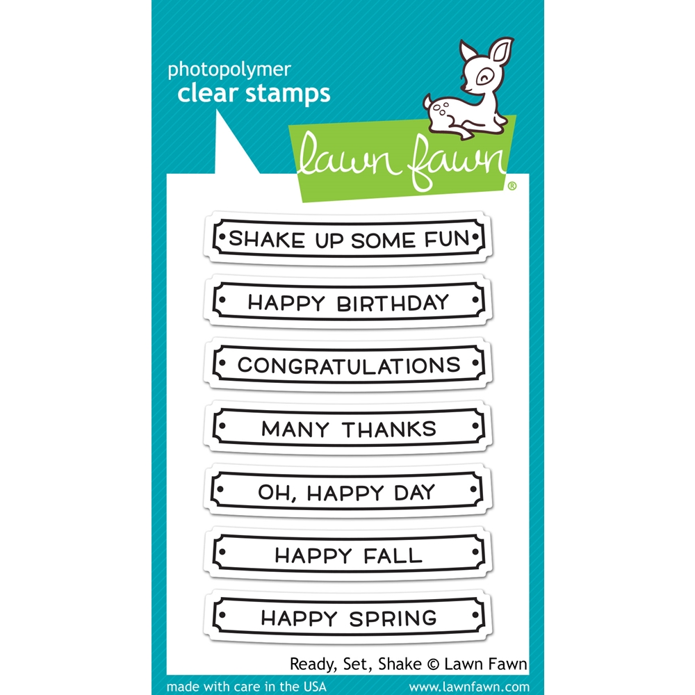 Lawn Fawn READY SET SHAKE Clear Stamps LF1060 zoom image