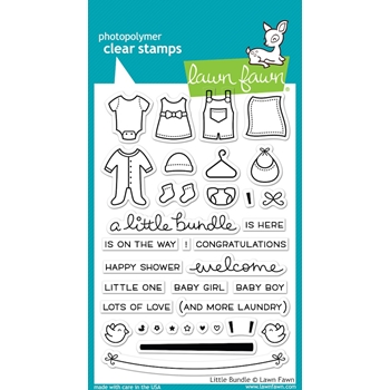 Lawn Fawn LITTLE BUNDLE Clear Stamps LF1127