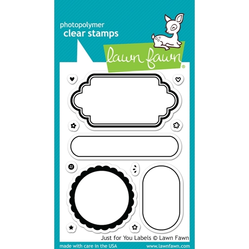 Lawn Fawn JUST FOR YOU LABELS Clear Stamps LF1132 Preview Image