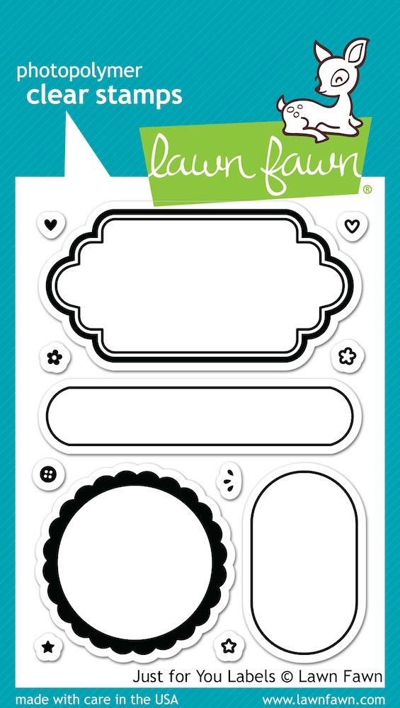 Lawn Fawn JUST FOR YOU LABELS Clear Stamps LF1132 zoom image