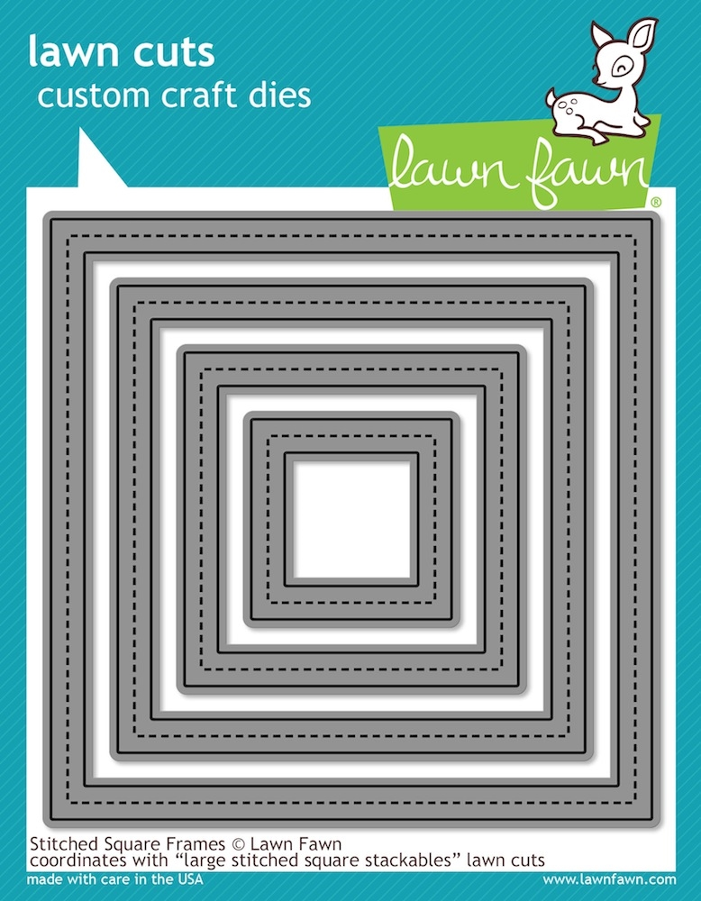 Lawn Fawn STITCHED SQUARE FRAMES Lawn Cuts LF1143 zoom image