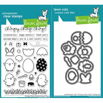 Lawn Fawn SET LF16SETCCC CHIRPY CHIRP CHIRP Clear Stamps and Dies*