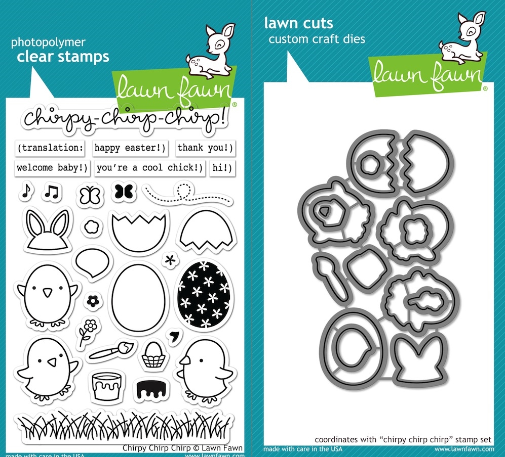 Lawn Fawn SET LF16SETCCC CHIRPY CHIRP CHIRP Clear Stamps and Dies zoom image